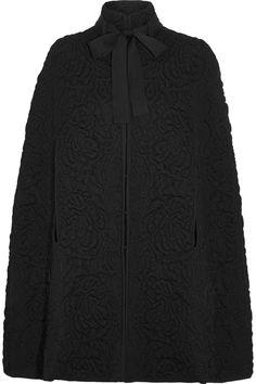 Alexander McQueen   Wool-blend matelassé cape   NET-A-PORTER.COM