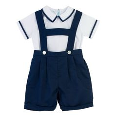 Shop Now Feltman Brothers 2-Piece Suspender Short Set