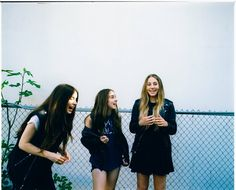 """The L.A. band Haim -- with sisters Danielle, left, Alana and Este -- recorded a cover of """"Wrecking Ball"""" by Miley Cyrus for the BBC."""
