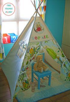 Personalised Teepee Teepee Play Tent Kids Teepee by TheTeepeeFairy & Custom order for Melanie Handmade Teepee. Play Tent Vintage ...