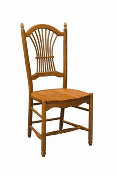 Amish Sheaf Back Dining Room Chair Lancaster Collection DutchCrafters Sheaf Back Chair is an heirloom quality dining room or kitchen chair that you'll want to pass along to future&nb Kitchen Chairs, Dining Room Chairs, Dining Room Furniture, Side Chairs, Chair Design Wooden, Wooden Chairs, Office Chairs Online, Mesh Office Chair, Amish Furniture