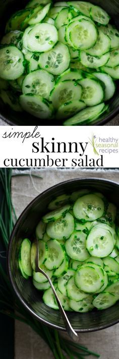 Blog post at Healthy Seasonal Recipes : Have you tried this recipe for Simple skinny cucumber salad with chives yet? It's super easy to make and only 19 calories per serving. Fat-f[..]
