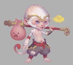 Lil' Wukong by suburbbum on DeviantArt