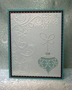 Memory Box die, Cuttlebug embossing folder