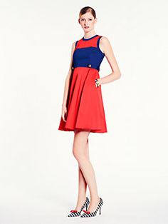 red & blue kiernan dress - katespade.com