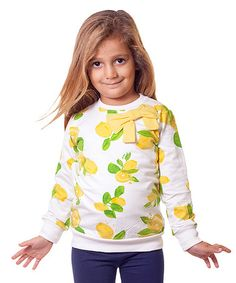 Yellow Lemons Bow Sweatshirt - Toddler & Girls #zulily #zulilyfinds