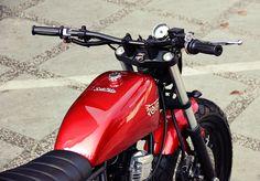 "Racing Cafè: Yamaha Scorpio ""The Red Tracker"" by Studio Motor"