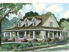 Farmhouse House Plan with 2039 Square Feet and 4 Bedrooms from Dream Home Source | House Plan Code DHSW15187