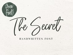 The Secret – Free Handwritten Font - http://www.graphicdelivery.com/?p=945