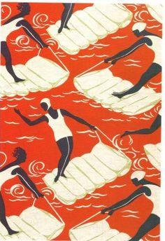 """Surfers"", cotton, English, 1937"