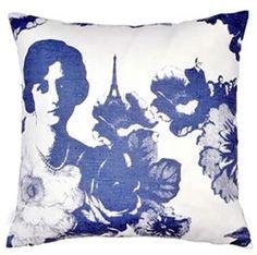 Mademoiselle Blue Cushion