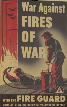 Original Vintage War Against the Fires of War Homefront by HodesH