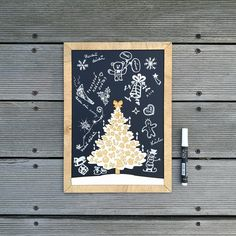 Christmas blackboard for your wishes!