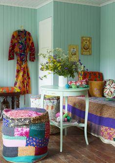 EN MI ESPACIO VITAL: Muebles Recuperados y Decoración Vintage: Decorando en verde { Decorating in green }