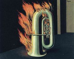 The discovery of fire - Rene Magritte