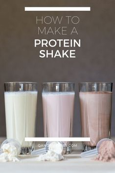 Shakes are a great way to introduce protein to the body whilst on the move. Learn how to make a great protein shake here - QandA Fitness - #fitness #ProteinShakes #HighProtein