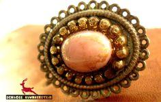 PARIS 1890 - Patina Style Ring mit 50er GlasBlüte von Schloss Klunkerstein - Uhren, von Hand gefertigter Unikat - Schmuck aus Naturmaterialien, Medaillons, Steampunk -, Shabby - & Vintage - Schätze, sowie viele einzigartige und liebevolle Geschenke ... auf DaWanda.com