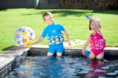 The bright blue clownfish T-shirt Floatsuit offers even more UV protection, for delicate young skin because it has a higher neckline and covers the shoulders. Clownfish, Delicate, Dads, Neckline, Swimsuits, Bright, Pretty, T Shirt, Blue