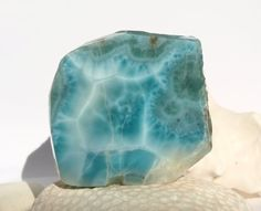 Dominican Turquoise Blue Larimar 80g Slab Marbled by MyBeachStore