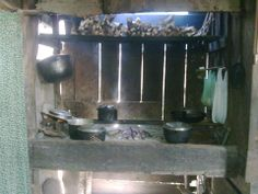 Typical cooking area (wood stove) in home in provinces