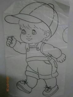 Imagem relacionada Fabric Painting Tutorial: In this tutorial we'll tell you how to use Country Chic Pencil Art Drawings, Art Drawings Sketches, Disney Drawings, Cartoon Drawings, Cute Drawings, Baby Drawing, Drawing For Kids, Coloring Books, Coloring Pages