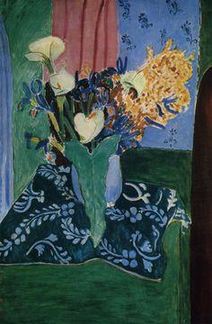 artemisdreaming: Calla Lilies, Irises and Mimosas 1931. Henri Matisse