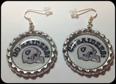 Oakland Raiders Go Raiders Unique Custom Sports & Themed Jewelry nfl,ncaa,mlb,nba,nhl,Earrings,Charm Bracelet,Keychain,Purse Charm by SportsnBabyCouture on Etsy