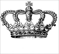 Items similar to Majestic Victorian queen princess crown rubber stamp clear unmounted on Etsy Tattoo Couronne, Desenho New School, Skull Rose Tattoos, Desenho Tattoo, Stencil Templates, Tattoo Stencils, Vintage Labels, Transfer Paper, Monogram Letters