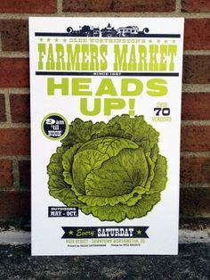 Igloo farmers market poster!