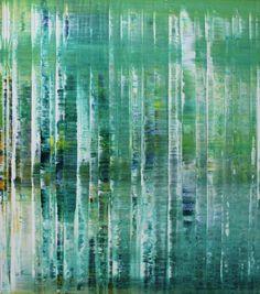 """Saatchi Art Artist Vieira Rodrigues; Painting, """"green elves"""" #art"""