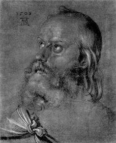 Albrecht Dürer ~ Head of an Apostle (Study for 'Heller Altarpiece'), 1508