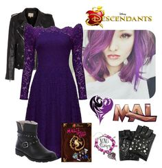 Mal from Descendants by starspy on Polyvore featuring IRO, Disney and Karl Lagerfeld