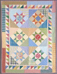Six Blocks, Six Summer Stars by Sandy Klop. A Baker's Dozen: 13 Kitchen Quilts from American Jane at Kansas City Star Quilts.