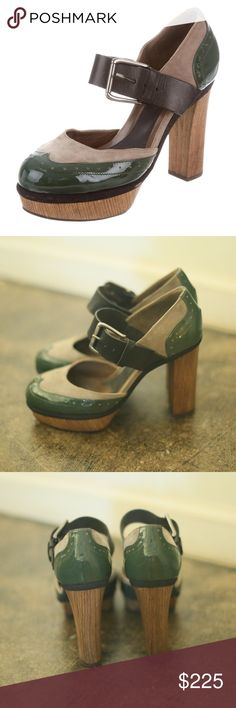 Marni brogue platform heels - sz 38 In EUC. Marni brogue platform heels. Leather and suede with a stacked heel. Size 40. Marni Shoes Heels