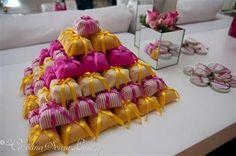 Decoração casamento rosa e amarelo (7)