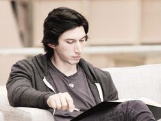 Adam Driver at The Force Awakens script read through.