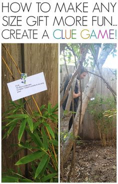 Birthday scavenger hunt... ideas for making any sized gifts more fun to give and receive!