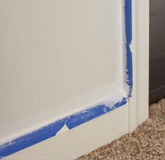 Seal the edges of painters tape so that paint doesn't leak underneath