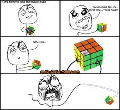 This is the second page of the Rubik's Cube memes collection. More funny puzzle images and rage comics. Troll Meme, Funny Troll, Some Funny Jokes, Crazy Funny Memes, Stupid Funny Memes, Funny Relatable Memes, Jokes Pics, Relatable Posts, Funny Stuff