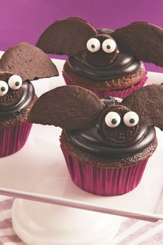 Fun chocolatey cupcakes won't hang around long once chocolate lovers catch sight of them!