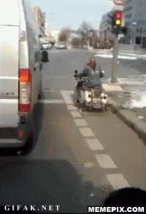 This image was shared via LOL Pics Beste Gif, Motorcycle Posters, Motorcycle Art, Image Macro, Animal Memes, Funny Pictures, Funny Pics, Funny Videos, Funny Jokes