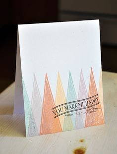 Modern Cones Card by Maile Belles for Papertrey Ink (June 2012)