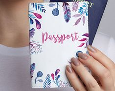 Gift Passport Cover Cute Pattern Passport Holder Travel Accessories Leather Case Personalized Passport Birthday Gift ID Holder CL6035