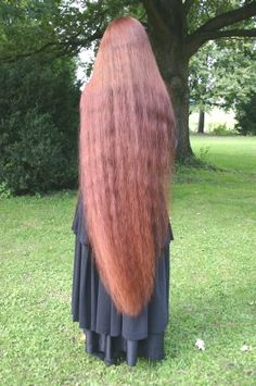 Glorious ankle length thick red hair!