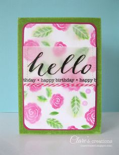 Watercolor effect and hand-carved stamps! | Clare's creations