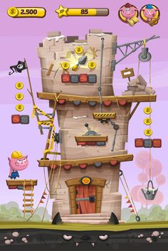 The Three Little Pigs  - Fabu #4 by Gabriel Mourelle, via Behance
