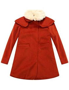 Richie House Little Girls Casual Coat with All Over cat Printed Lining RH1036