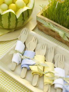dressing up paper forks
