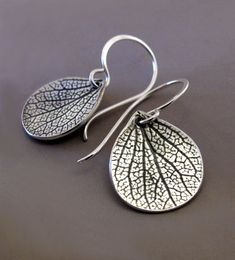 Sterling Silver Flower Petal Earrings  Small by esdesigns on Etsy