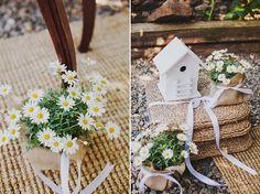 Detalles campestres para decorar la boda {Foto, Luis Cabeza} #weddingdecoration #decoracionbodas #tendenciasdebodas @luiscabeza